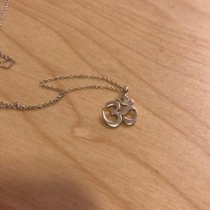 Sterling Ohm pendant necklace